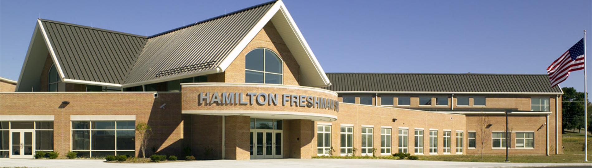 Freshman front entrance header