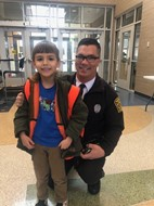 officer and student